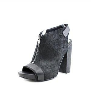 FERGIE 'Rowley' Leather Peep Toe Bootie Sandals
